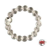 Edelstein Armband White Skull Creation