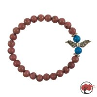 """Edelstein Armband """"Red Wings"""""""